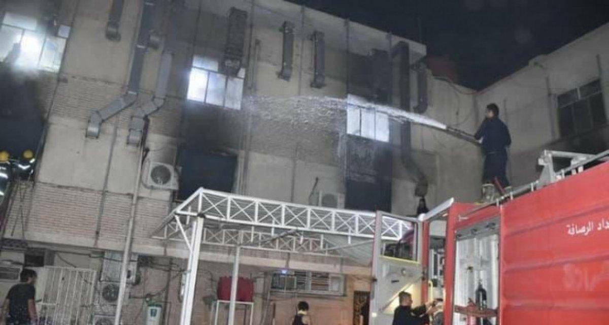Irak'ta hastanede yangın faciası: 20'den fazla ölü var