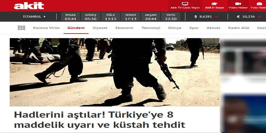 """Akit Gazetesi'ne göre """"Ülkede NATO kuvveti istemiyoruz"""" açıklaması küstahlık!"""