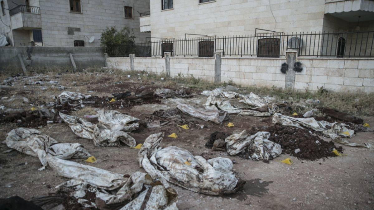 Afrin'de toplu mezar bulundu