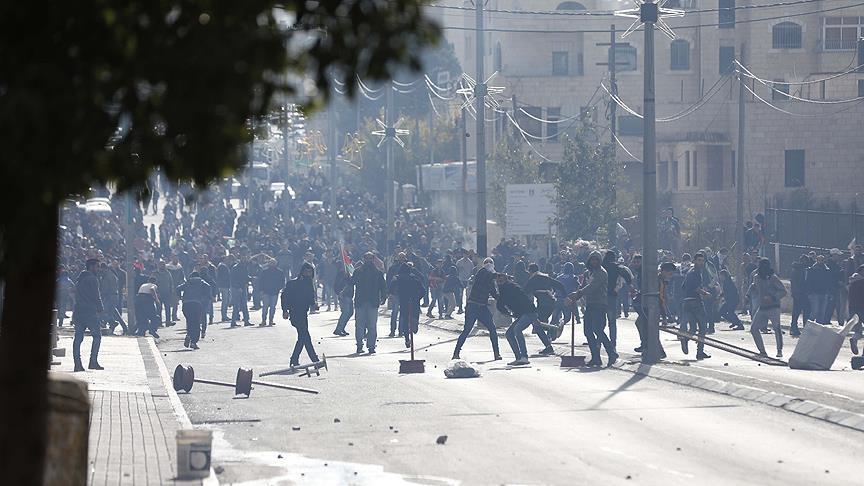 İsrail'den Filistinli göstericilere müdahale: 108 yaralı