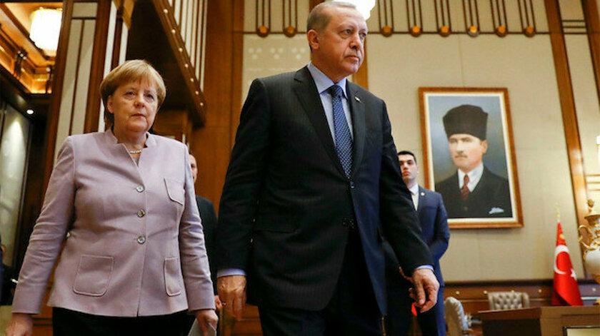 Merkel Cumhurbaşkanı Erdoğan ile görüştü