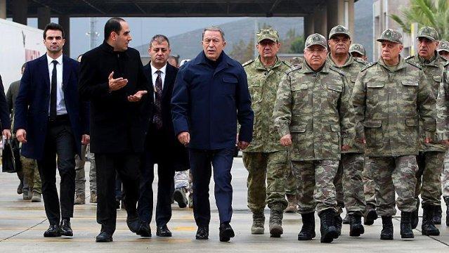 MSB Bakanı Akar Ve Askeri Komutanlar Hatay'da