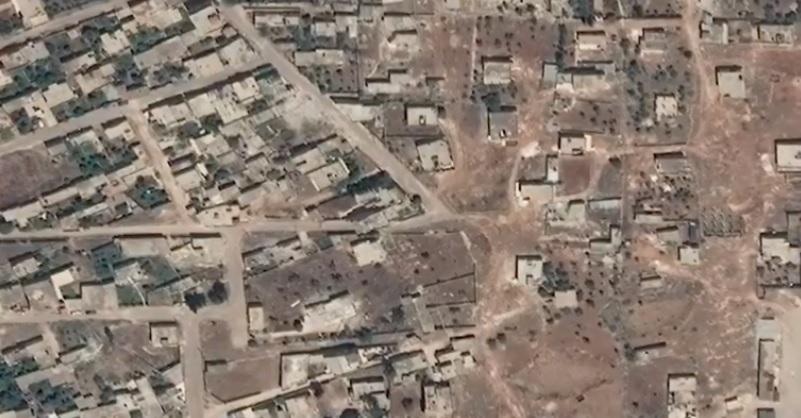 İdlib'de savaşın izleri uydu görüntülerinde