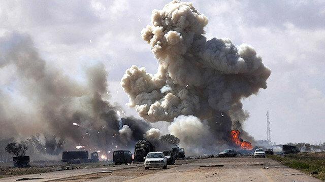 Hafte'e ait askeri araç konvoyu imha edildi