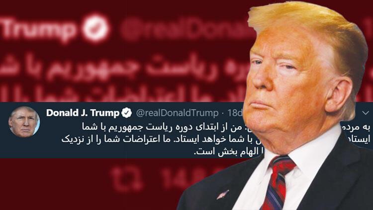 Trump'tan İran halkına farsça mesaj