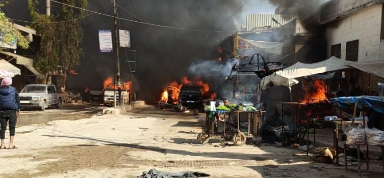 Afrin'de 2 ayrı bombalı saldırı