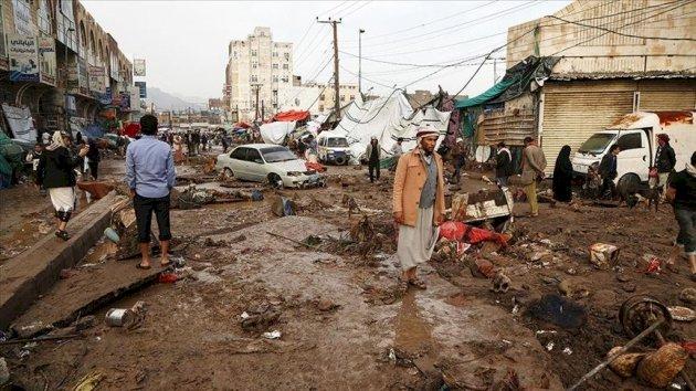 BM: Yemen'de 150 bin kişi selden zarar gördü