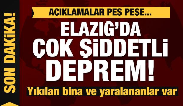 Elazığ'daki depremle ilgili Hükümetten peş peşe açıklamalar.