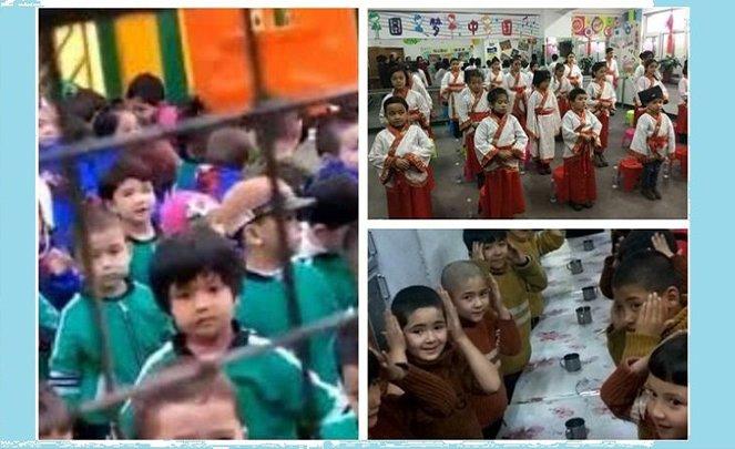 Çinlileştirilmeye çalışılan Uygur çocukları görüntülendi