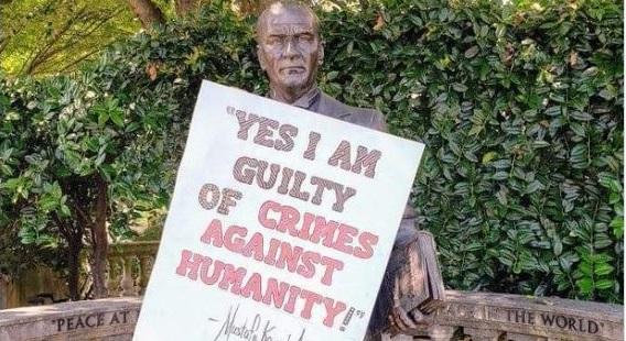 Washington'da Atatürk heykeline saldırı