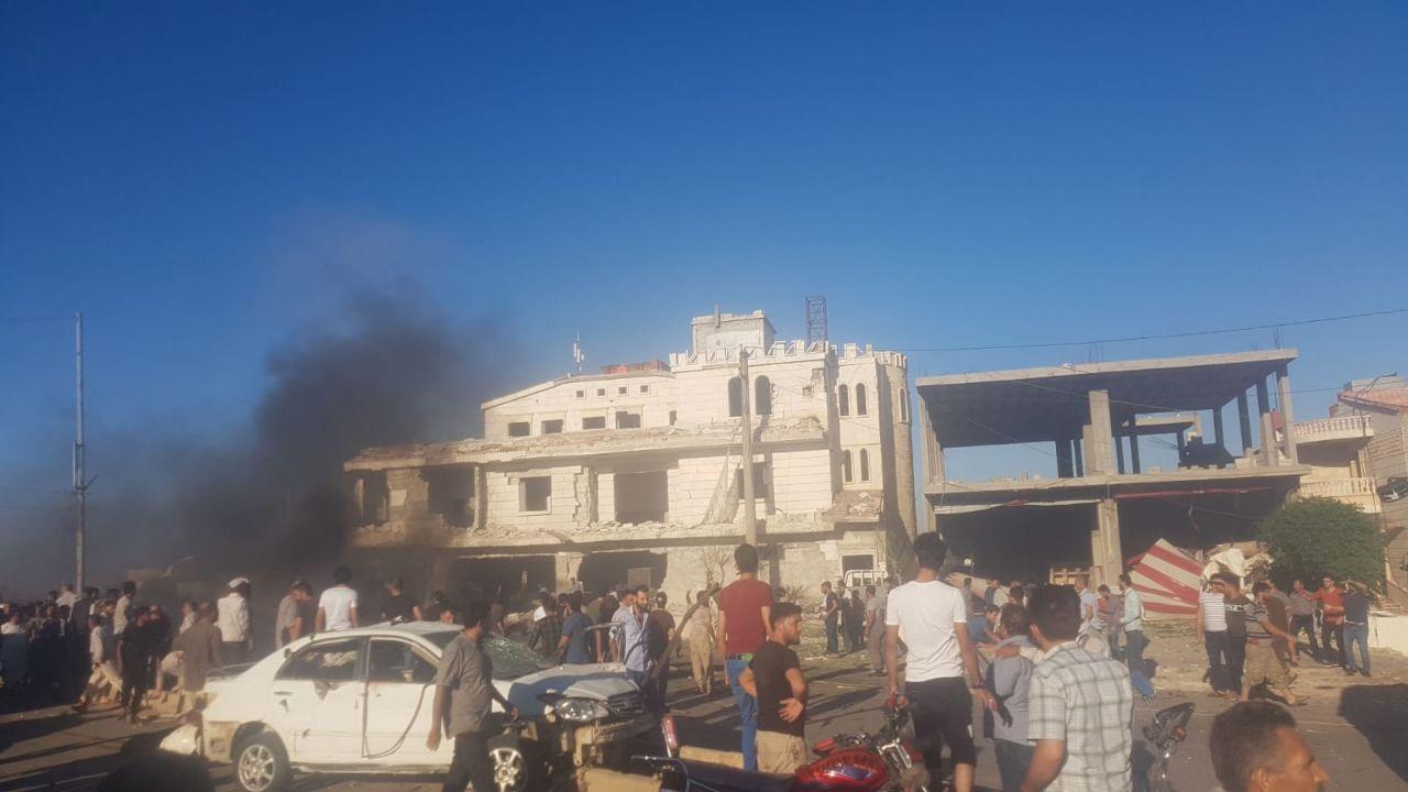 Azez - Kilis Gümrük kapısı bölgesinde bombalı araç saldırısı (Video Haber)