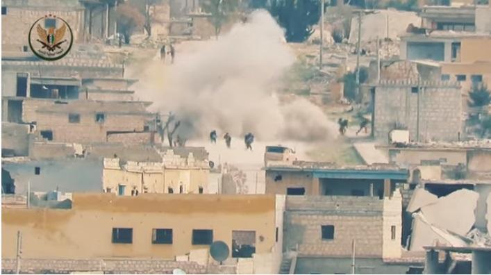 Halep'te Esed Mevzisine Füze Saldırısı