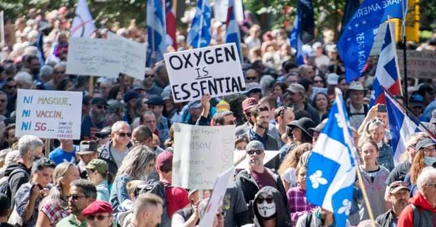 Kanada'daki maske ve aşı karşıtı protestolar tüm şehirlere sıçradı!