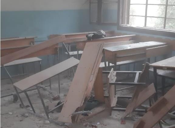 PKK Afrin'de Okul Vurdu