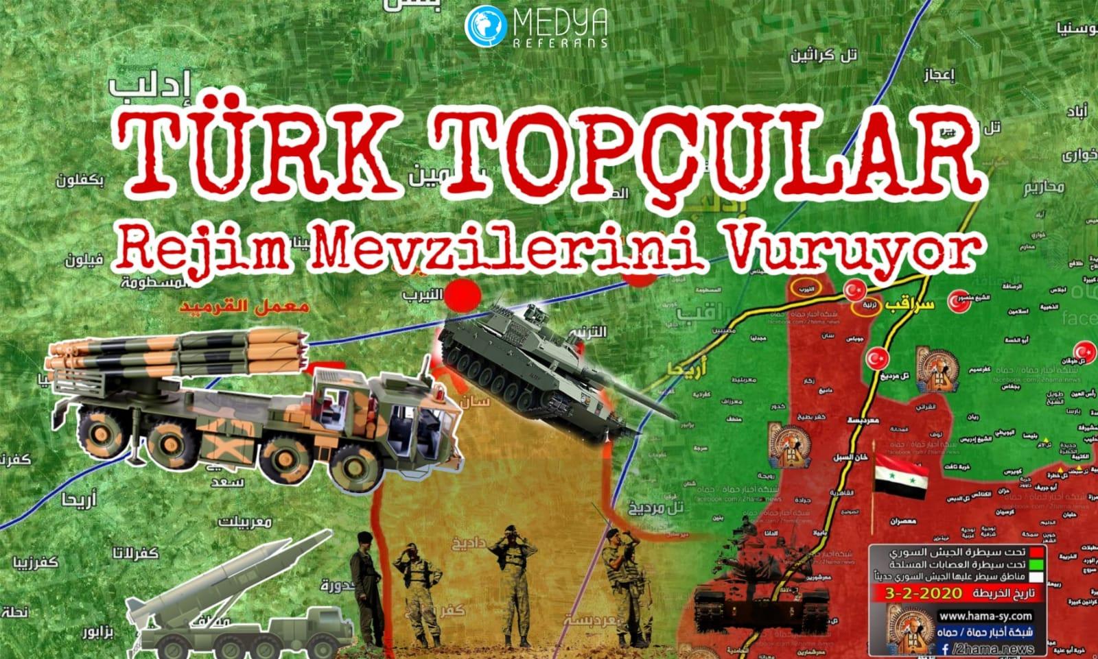 Türk Topçular Rejim Mevzilerini Vuruyor