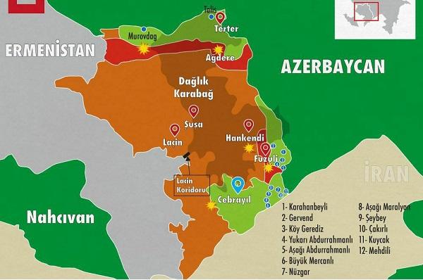 MSB'den kritik açıklama: Azerbaycan, Cebrail kentini de işgalden kurtardı!