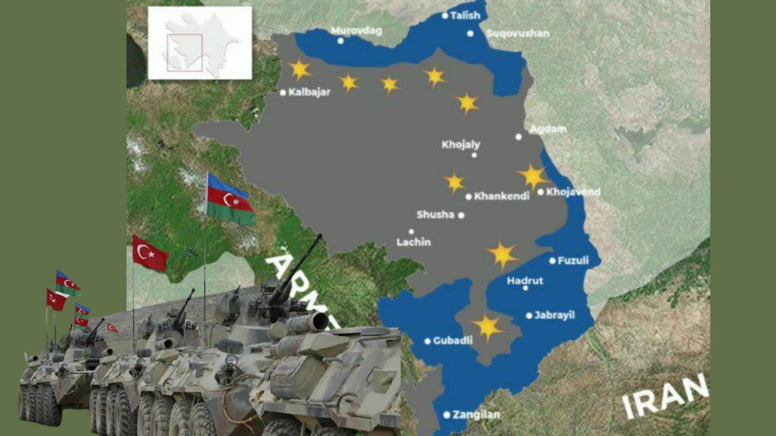 Azerbaycan ordusu Karabağ'ın kritik bir ilinde daha kontrol sağladı.