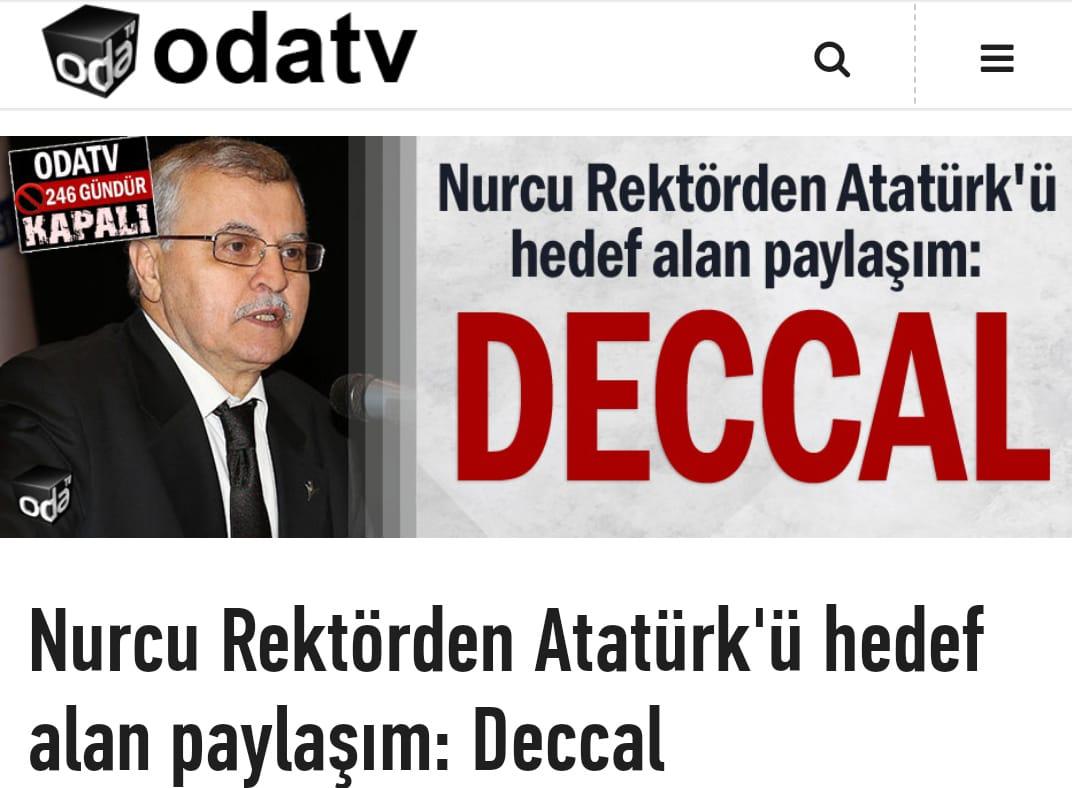 ODA TV üniversite rektörüne ''Atatürk Deccal'' dedirtti