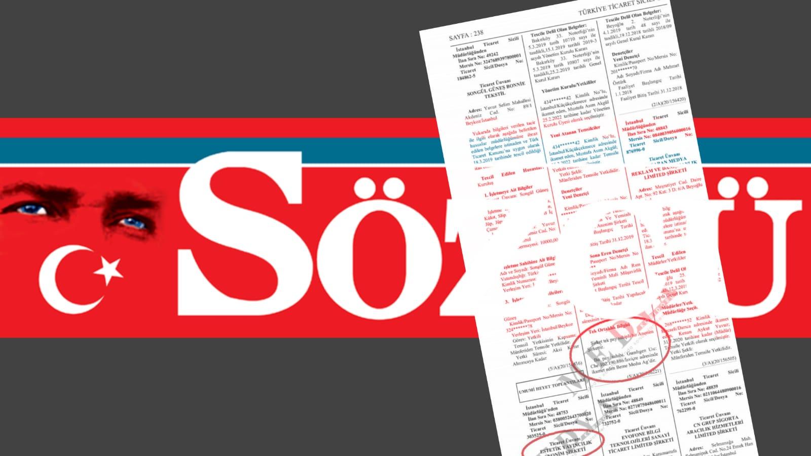 Sözcü Gazetesi İsviçre merkezli Beme Media'ya satıldı
