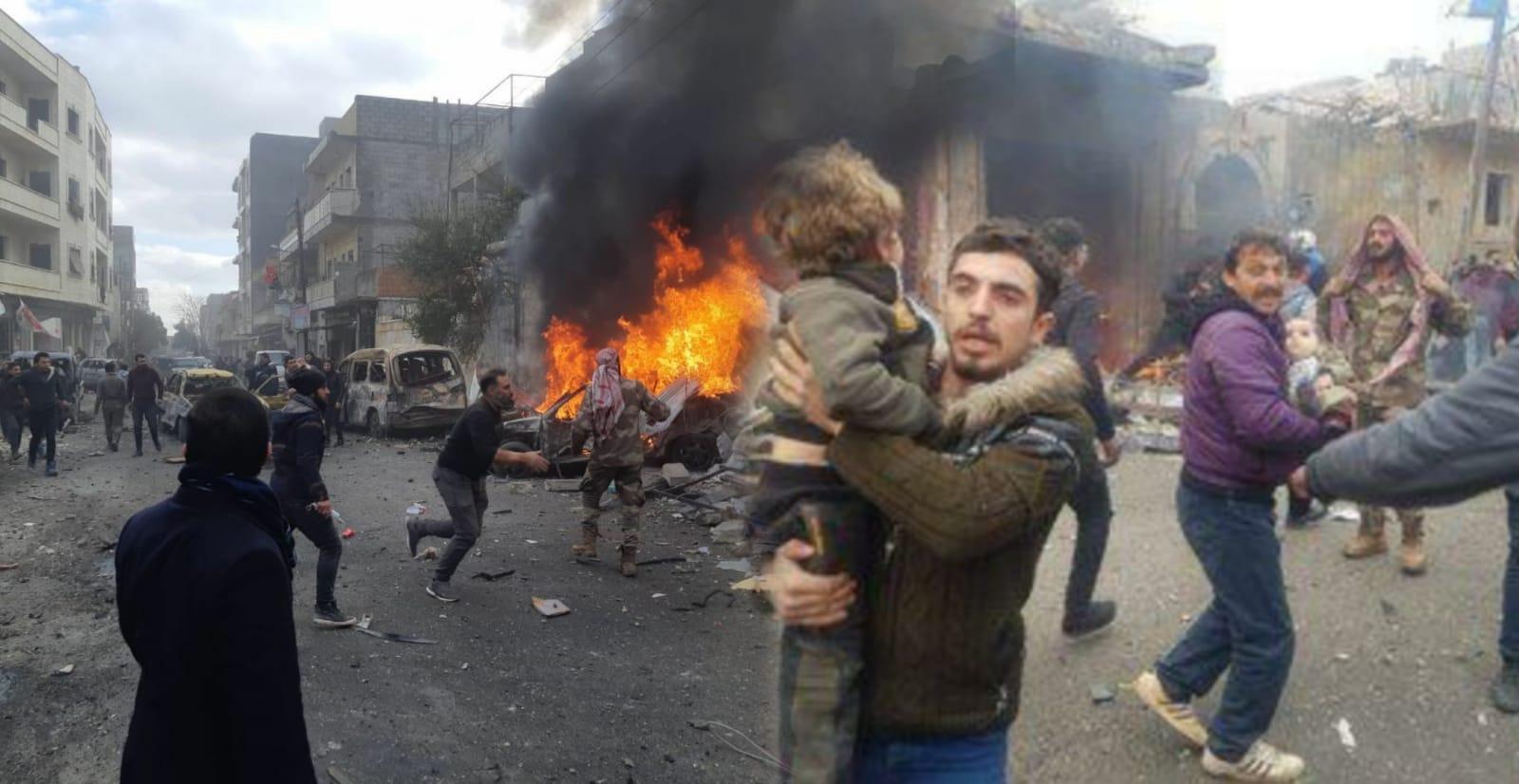 Azez'de bombalı araç saldırısı: 4 kişi öldü 21 sivil yaralı