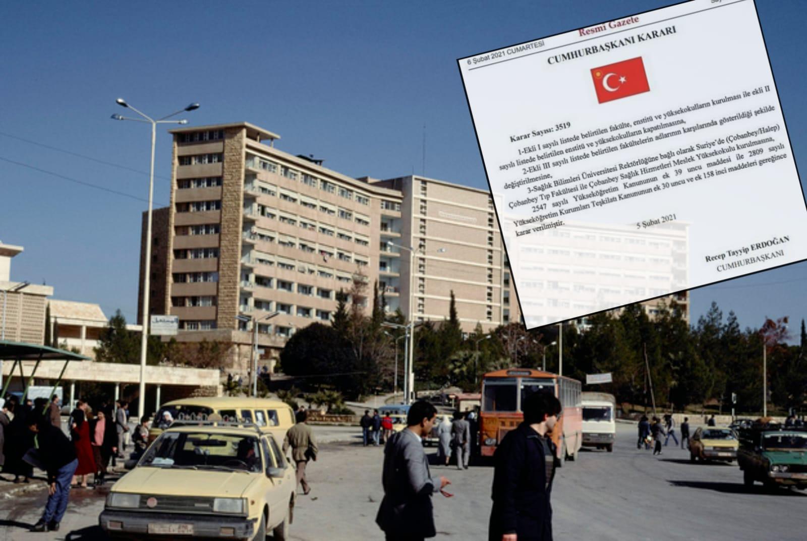 Türkiye Halep'te tıp fakültesi inşa edecek