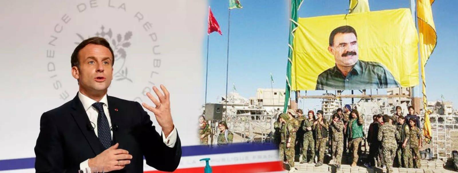 Macron'dan itiraf: YPG'nin PKK ile bağlantısı var