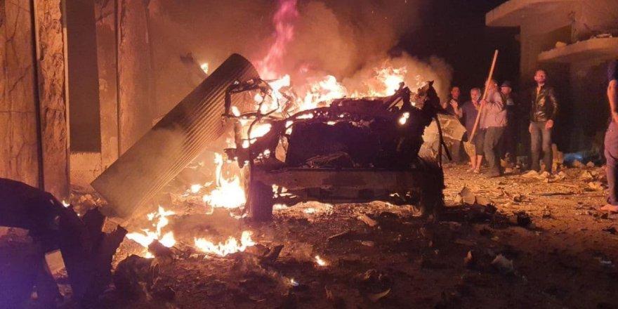 Azez'de bomba yüklü araç ile terör saldırısı