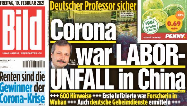 Alman fizikçi: Koronavirüsün laboratuvardan geldiğinde yüzde 99,9 eminim