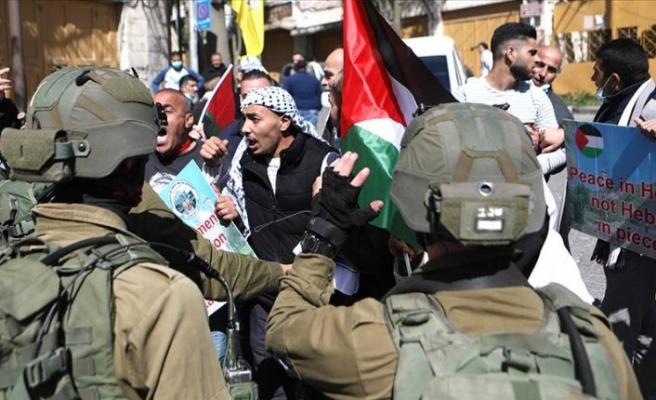 Harem-i İbrahim katliamı yürüyüşüne İsrail güçlerince müdahale