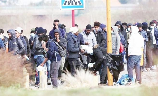 Fransa'da göçmenler yaşam mücadelesi veriyor