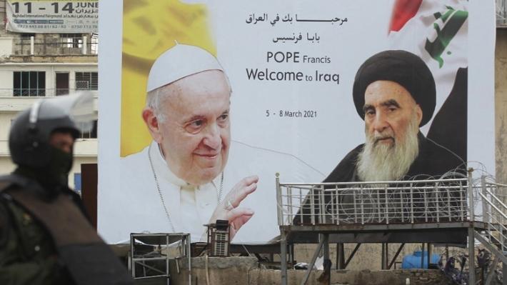 """Irak'ta Papa ile Sistani'nin buluştuğu gün """"milli gün"""" ilan edildi"""