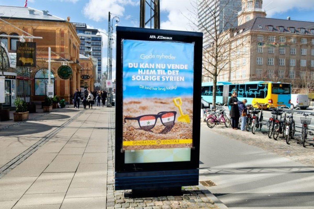 Danimarka'da bilboardlarda: Suriyeliler ülkenize dönün, Suriye'nin size ihtiyacı var