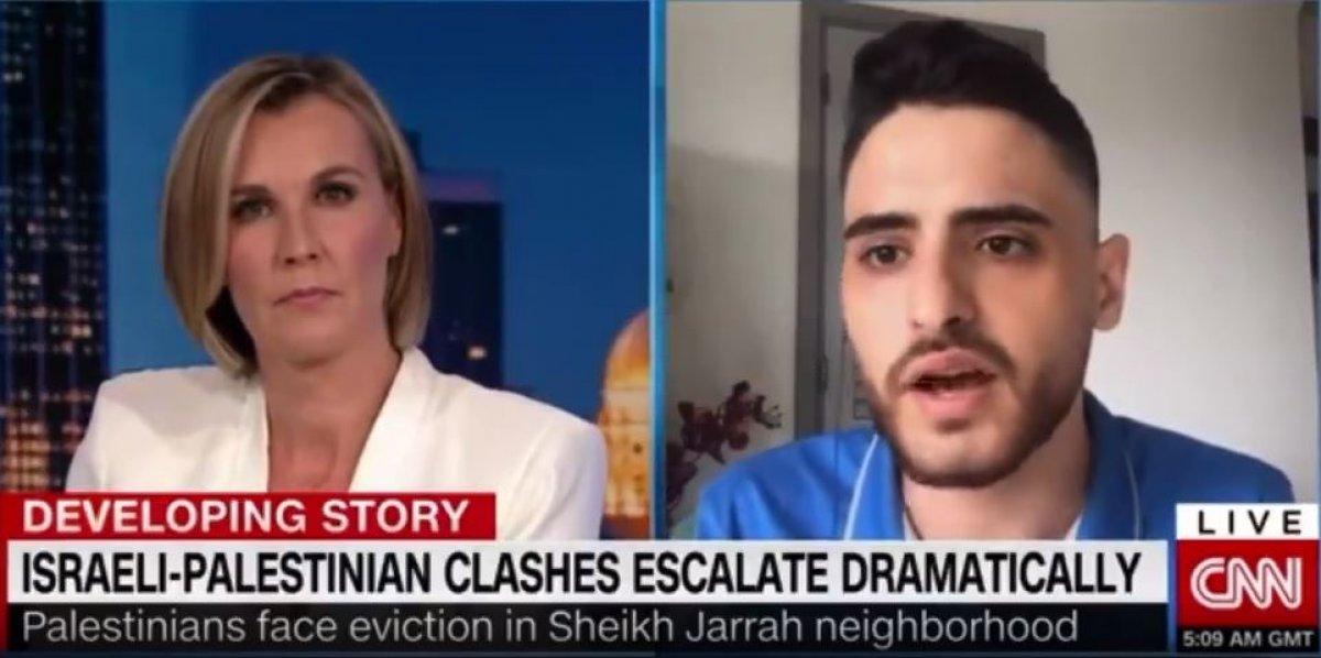 Filistinlileri suçlu göstermeye çalışan CNN spikerine Filistinli yazardan tokat gibi cevap