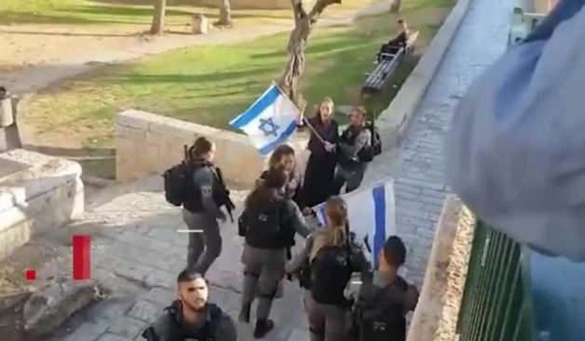 İsrail polisi İsrail bayrağına yasak getirdi