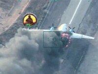 Haftere destek götüren Esed uçağı SİHA'lar tarafından vuruldu