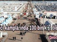 Mülteci kamplarında 100 bin kişi ölebilir