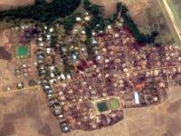 Arakanlı Müslümanların Yakılan Evleri Uydu Görüntülerinde