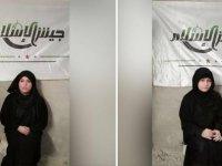 Afrin'de PKK için kamufle olan 2 kadın militan yakalandı