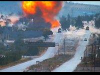 İdlib'te Rus devriye aracına bombalı saldırı (Video Haber)