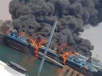 İran'da tersane yangını 7 gemi yandı