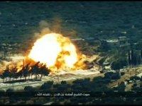 Rus zırhlısına düzenlenen saldırının görüntüleri yayınlandı (video haber)