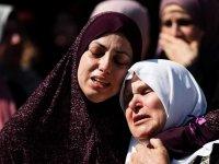 Filistinli anne, Bebeğini emzirdiği sırada siyonist kurşun onu vurdu
