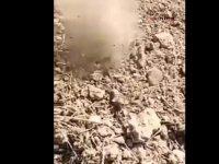 Deprem sonrası korkutan, gizemli toprak hareketliliği (Video haber)