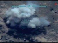 Azerbaycan SİHA'ları Ermeni mevzileri tam isabetle vurdu ( video haber  (