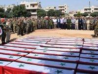 Esed rejimi toplu cenaze töreni düzenledi