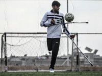 İdlibli engelli futbolcu Muhammed Osman'ın en büyük hayali Türk Milli Ampute Takımı'nda oynamak