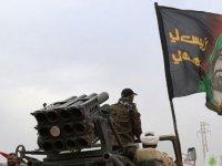 Haşdi Şabi Irak Ordusu'na ait operasyon merkezini Katyuşa füzeleriyle vurdu