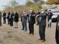 Trafo önünde toplanan Suruçlular el açıp elektrik duası yaptı