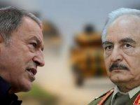 Hafter'in savaş tehdidine Hulusi Akar'dan cevap: Kaçacak yer bulamaz