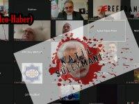 Kasım Süleymani'yi anma programına ''Katil Süleymani, katil İran'' sloganları damga vurdu